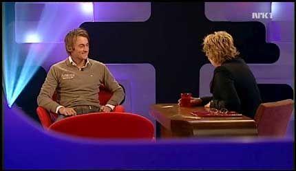 BLE INTERVJUET: Petter Northug jr. av Anne Grosvold. Foto: NRK