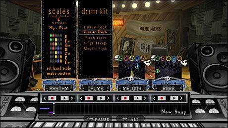 MUSIKKSTUDIO: I «Guitar Hero: World Tour» kan du nå snekre sammen dine egne låter. Foto: NEVERSOFT/ACTIVISION