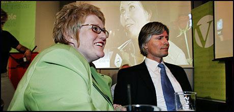 NOMINERT: Venstres nestledere Trine Skei Grande og Ola Elvestuen vil begge inn på Stortinget. Foto: Scanpix