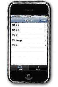 PENT: Programmet føyer seg fint inn i rekken av brukervennlige og pene Iphone-programmer.