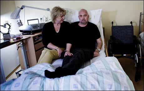 LEGETABBE: Kreftsyke Tommy Berg blir fratatt deler av erstatningen fordi han er dødssyk. Foto: Trond Sørås