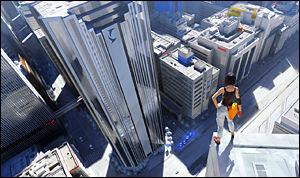 STILSIKKERT: Med sin unike visuelle stil og innovative spillbarhet er «Mirrors Edge» en uhyre stilsikker opplevelse. Foto: DICE/EA