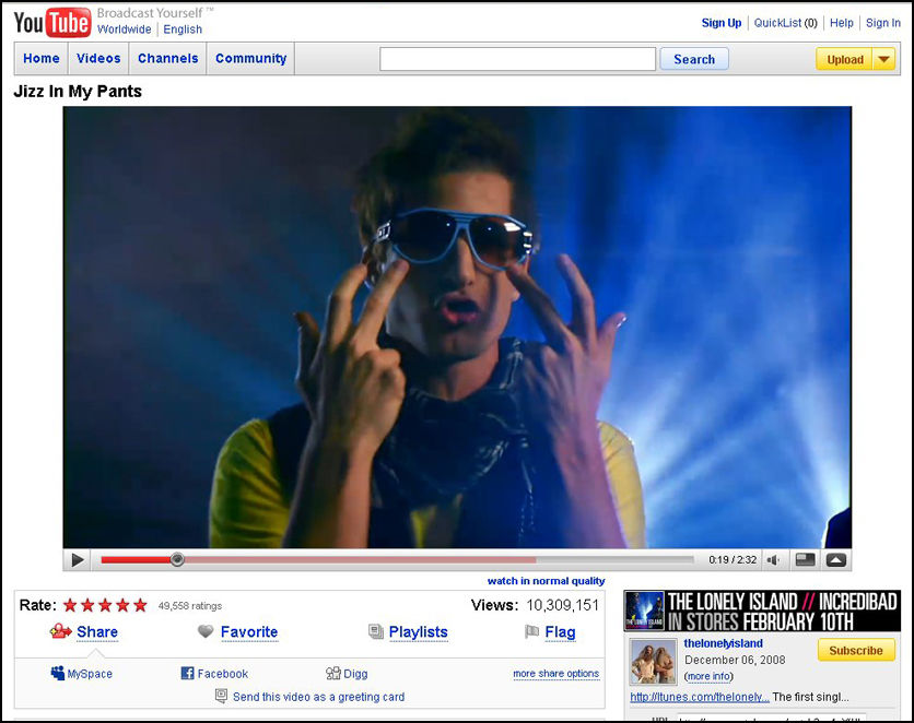 HD: I YouTubes nye HD-seksjon finner du videoer med god kvalitet som åpnes i en stor spiller. Foto: Skjermbilde