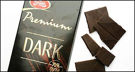 MINDRE LYST PÅ FETT: Mørk sjokolade kan være bra for å holde kaloriinntaket nede i jula, viser ny forskning. Foto: Bjørn Djupvik/VG