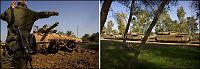 Israelske stridsvogner er oppstilt langs Gaza-grensen