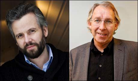 KONGELIG KRANGEL: Carl-Erik Grimstad (til venstre) mener Ari Behn tyr til usannheter for å selge bøker Foto: