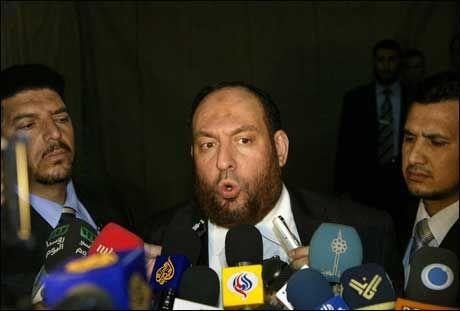 - STOR LEDER: Slik beskriver Hamas-talsmannen Mohammed Nazal eks-ministeren Said Siam. Foto: AFP