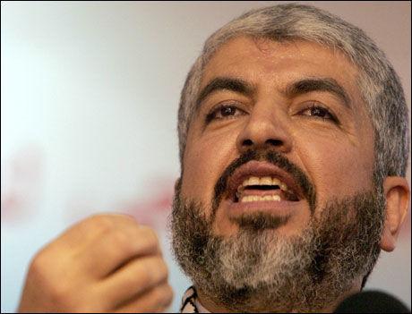 EN LØGN: Hamas hevder at holocaust er en løgn oppfunnet av jødene, og fordømmer FNs planer om å lære palestinske barn om jødeutryddelsen. Bildet er av Hamas-leder Khaled Meshaal. Foto: AFP
