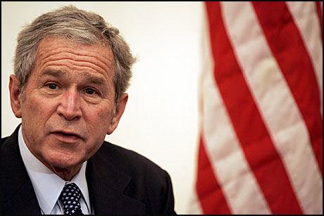SNART FERDIG: George W. Bush holdt torsdag sin siste offisielle tale som USAs president. Foto: AFP