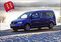 Test av Volkswagen Caddy: Familiebussen