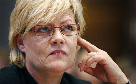 BETENKT: SV-leder Kristin Halvorsen under landsstyremøtet. Foto: Scanpix