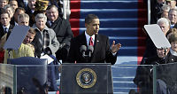 Her er Obamas første tale som USAs president
