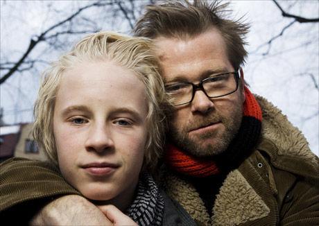 SAMMEN: Fridtjov Såheim og Odin Waage spiller far og sønn i filmen. Foto: Scanpix