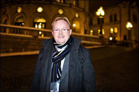 MISTILLIT: Etter Frps sentrastyremøte mandag, sier nestformann Per Sandberg at en regjering med Høyre, uten Frp, ikke kan regne med støtte fra Frp. Selv når Ap er alternativet. Foto: EIVIND GRIFFITH BRÆNDE