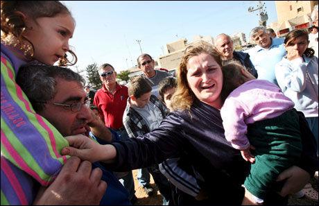 ANGREP: Miriam Ashkavili og hennes familie var blant dem som rammet da den israelske byen Ashkelon ble truffet av en palestinsk rakett tirsdag. Foto: