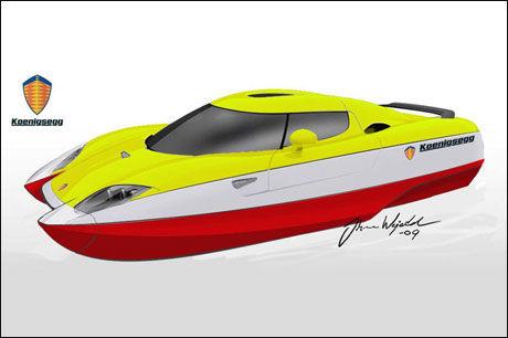 KOENIGSEGG: Som båt! Illustrasjon: Johan Wejedal