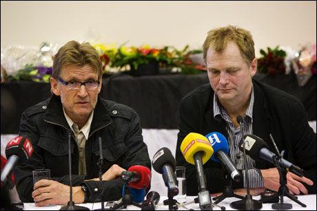 NOMINERT: Legene Mads Gilbert (til venstre) og Erik Fosse er nominert til Den store journalistprisen etter sitt arbeid med å få ut informasjon om tilstandene i Gaza under krigen i januar. Foto: Frode Hansen