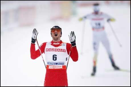 STERKEST: Petter Northug var definitvt sterkest da 30-kilometeren skulle avgjøres. Foto: Scanpix