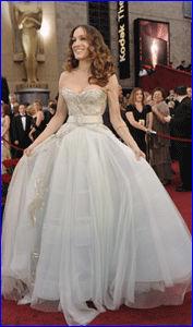 BALLKJOLE: Sarah jessica Parker i kjole fra Dior. Foto: AP