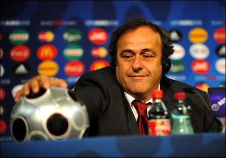 SLITER: Michel Platini, UEFA og arrangørene må jobbe hardt fram mot neste EM i Polen og Ukraina. Foto: Scanpix