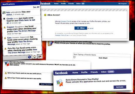 FARLIG: Facebook inneholder farer, og passer du ikke på kan du bli infisert. Slik ser noen av applikasjonene ut. (Fotomotansje: Trend Micro/Ole Petter Baugerød Stokke)