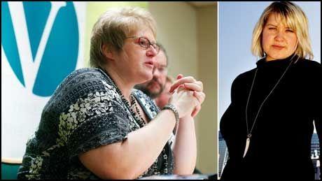 NEI NEI NEI: Venstre var nei-parti i 1972 og 1994, og blir det også i 2009, dersom landsstyret og nestleder Trine Skei Grande får viljen sin. UV-leder Anne Solsvik (t.h.)er ikke imponert. Foto: Scanpix/Gøran Bohlin