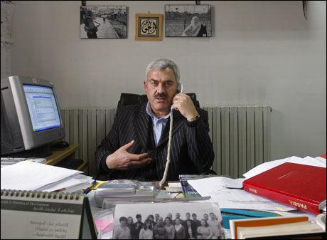 FÅR IKKE REISE: Shawan Jabarin er leder for den palestinske menneskerettsorganisasjonen al-Haq, men får ikke reise til Nederland for å motta Geuzenpenningprisen. Foto: AP