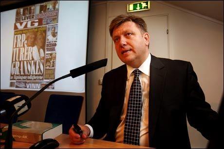 VURDERER TV-REKLAME: Geir Mo, generalsekretær i Frp. Foto: Frode Hansen