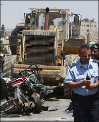 Israel knuser familiehuset til hjullaster-drapsmann