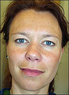 DREPT: Linda Anett Hansen (35). Foto: Nofima