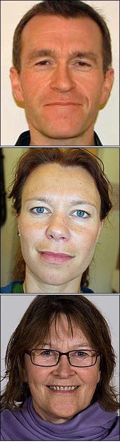 DREPT: Ole-Roger Olsen (44), Linda Anett Hansen (35) og Ragna Elida Christensen (61) ble alle drept i Tromsø søndag. Foto: Nofima/Finnmark fylkeskommune