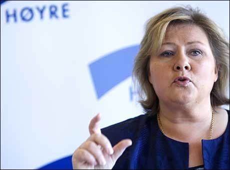 SLITER: Høyre under Erna Solbergs ledelse fikk bare 10,8 prosent på en meningsmåling fredag. Foto: Scanpix