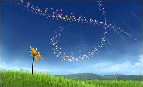 KREATIV FLYT: Utviklerne av «Flower» mener det kunstneriske og det inkluderende ikke utelukker hverandre. Foto: THATGAMECOMPANY