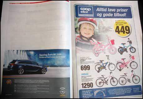 HULL: Avisen kom ut, men det er noen sider med hull i dagens utgave av Dagbladet. Foto: