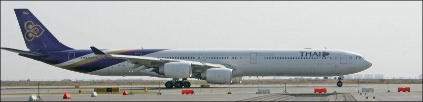 SNART TIL OSLO: En Airbus fra Thai på Suvarnabhumi-flyplassen i Bangkok. Foto: AP