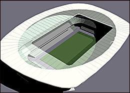 40 000? Slik er Lerkendal foreslått utformet med en kapasitet på 40 000 tilskuere. Klubben mener en noe mindre utgave er mer sannsynlig. Foto: HOK Sport Architecture