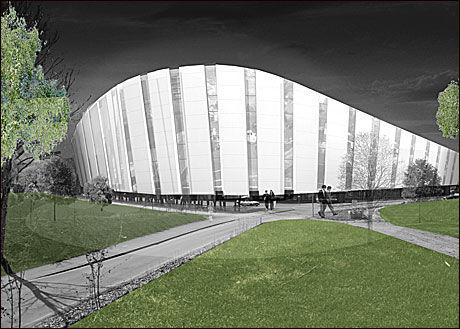 FANCY: Slik kan nye Viking stadion bli seende ut. Foto: Link-Signatur