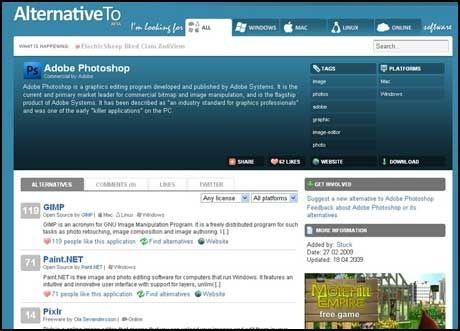 Gimp er et populært alternativ til Photoshop, ifølge Alternative To. Foto: PC World.