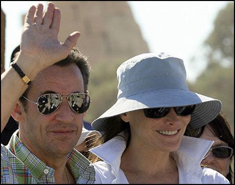 LUKSUSHOTELL: Sarkozy og Bruni koser seg her på Winter Palace Hotell i Luxor. Foto: AFP