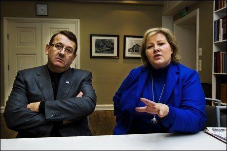VRAKER ERNA: Et flertall av Høyre-velgerne foretrekker Per Kristian Foss som statsminister fremfor Erna Solberg. Foto: Frode Hansen