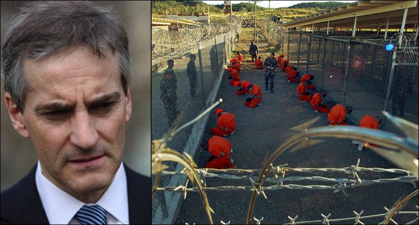 ORIENTERT: Utenriksminister Jonas Gahr Støre bekrefter at Norge er forespurt om å ta imot Guantánamo-fanger. Foto: JØRGEN BRAASTAD/SHANE T. MCCOY/AP