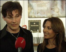 FORNØYD ETTERPÅ: Morten Harket og Pia Tjelta tok seg tid til en prat med VGTV etter duett-debuten. Foto: NIKLAS LYSVÅG