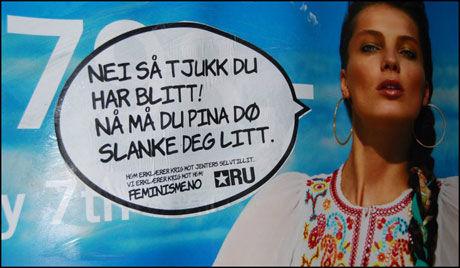 STORT: Kampanjen er riksdekkende, men utendørs er den hovedsakelig å finne i Oslo. Foto: Rød Ungdom