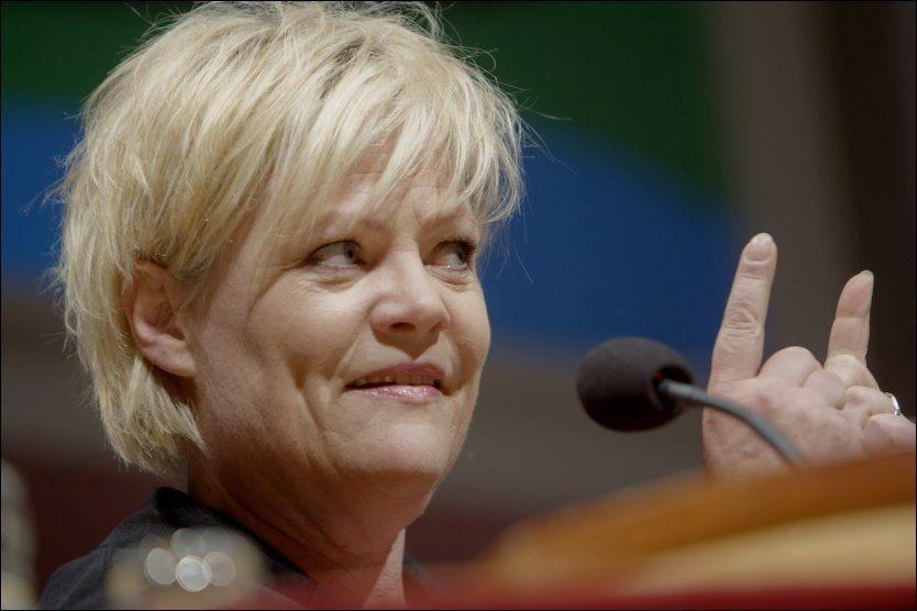 STENGTE DØRER: Finansminister Kristin Halvorsen (SV)får ikke gå på skattejakt i Sveits. Foto: Scanpix