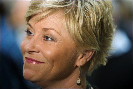 FÅR NY TITTEL: Frp-formann Siv Jensen blir etter alt å dømme nå partileder. Foto: Eivind Griffith Brænde