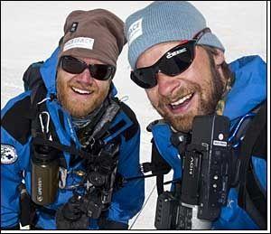 DELTOK I REDNINGSAKSJONEN: Petter Lindén Nyquist og Lars Oma Erichsrud. Foto: everest09.no