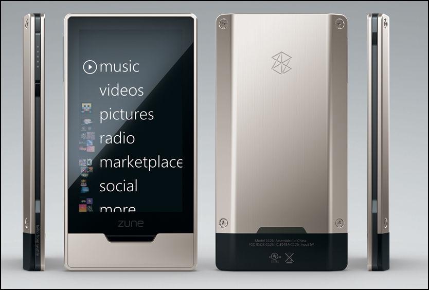 LEKKER: Designet på nye Zune HD er det intet å utsette på. Menysystemet er det samme som på eldre generasjoner Zune. Foto: Microsoft