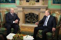 «Skandalemøte» mellom Putin og Lukasjenko