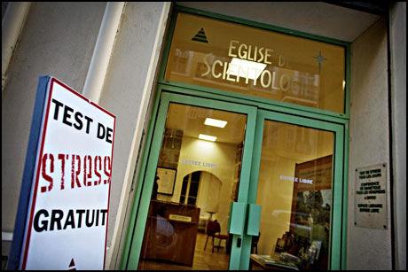 SCIENTOLOGI-KONTORET: Dette er Scientologikirkens lokaler i Nice, Frankrike. Foto: JØRGEN BRAASTAD