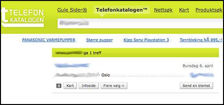 FJERNET: Fødselsdatoene fjernes nå fra Telefonkatalogen. Foto: Skjermbilde